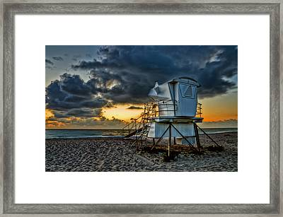 Sunrise On Vero Beach Hdr 1 Framed Print