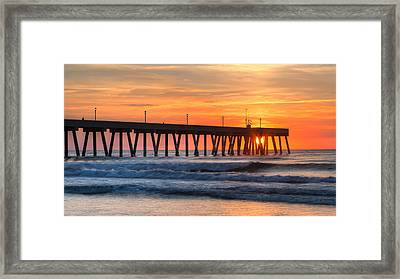 Sunrise On Wrightsville Beach Nc Framed Print