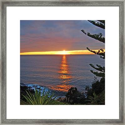 Framed Print featuring the photograph Sunrise Opening by Ankya Klay