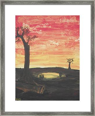 Framed Print featuring the painting Sunrise Or Sunset by Martin Blakeley