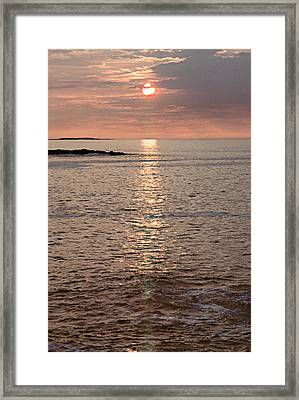 Sunrise Otter Cliffs Framed Print by Peter J Sucy