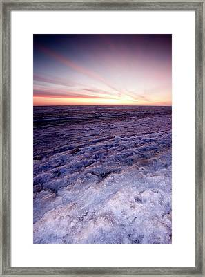 Sunrise Over A Frozen Beaufort Sea Framed Print by Chris Madeley