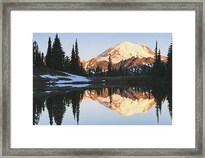 Sunrise Over A Small Reflecting Pond Framed Print by Stuart Westmorland