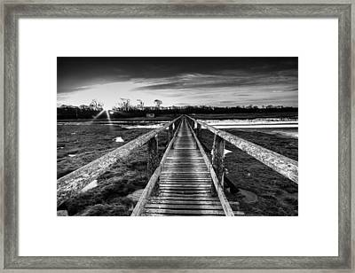Sunrise Over Aberlady Bridge.psd Framed Print