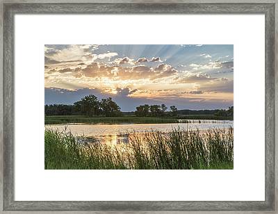 Sunrise Over Backwater Of The Milk Framed Print by Chuck Haney