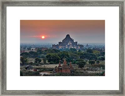 sunrise over Bagan Framed Print by Juergen Ritterbach