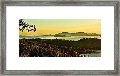 Sunrise Over Bellingham Bay Framed Print by Robert Bales