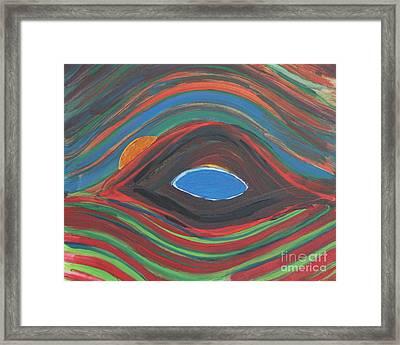 Sunrise Over Blue Ridge Mountain Lake Framed Print