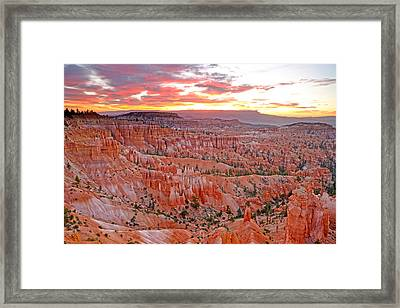 Sunrise Over Bryce Amphetheater Framed Print by Eric Foltz