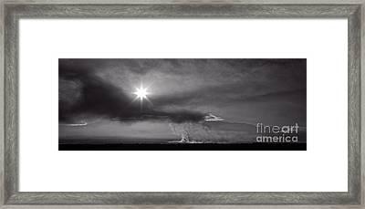 Sunrise Over Burning Sugar Cane Fields Maui Hawaii Framed Print by Edward Fielding