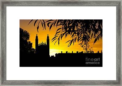 Sunrise Over Cambridge Framed Print by David Warrington