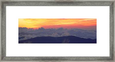 Sunrise Over Clingmans Dome, Great Framed Print