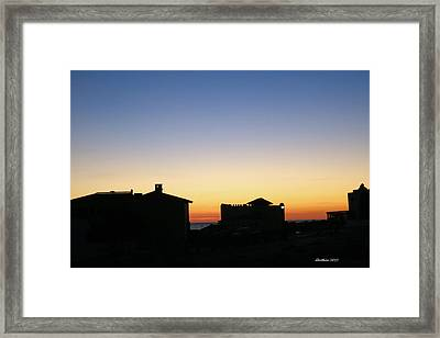 Framed Print featuring the photograph Sunrise Over Cortez by Dick Botkin