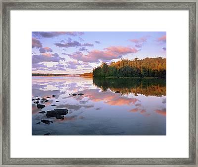 Sunrise Over Cyprus Lake, Bruce Framed Print
