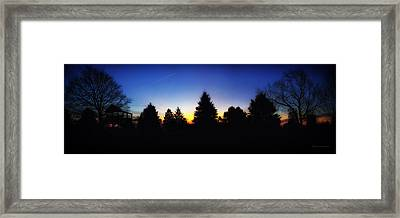 Sunrise Over East Lawn Panorama Framed Print by Thomas Woolworth