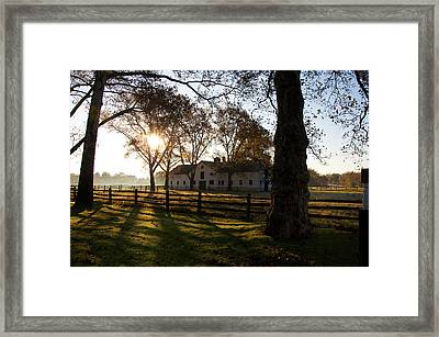 Sunrise Over Widener Farm Framed Print by Bill Cannon