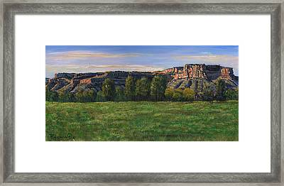 Sunrise Over Farmington Bluffs Framed Print by Timithy L Gordon
