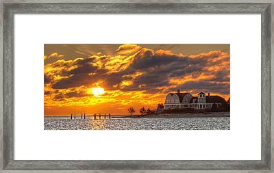 Sunrise Over Fenwick Framed Print by Jonathan Steele