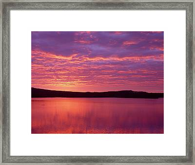 Sunrise Over Grand Lake Matagamon Framed Print by Panoramic Images