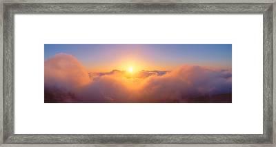 Sunrise Over Haleakala Volcano Summit Framed Print