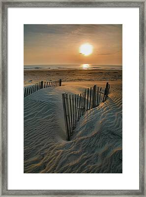 Sunrise Over Hatteras Framed Print by Steven Ainsworth