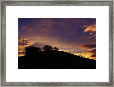 Sunrise Over Hidden Lakes Park Framed Print by Colleen Renshaw