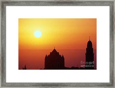 Sunrise Over Jerusalem Framed Print by Thomas R Fletcher