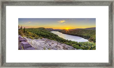 Sunrise Over Lake Of The Clouds Framed Print