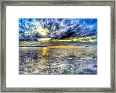 Sunset Over Lake Ontario Framed Print