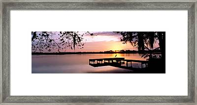 Sunrise Over Lake Whippoorwill Framed Print by Panoramic Images