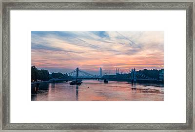 Sunrise Over London Framed Print