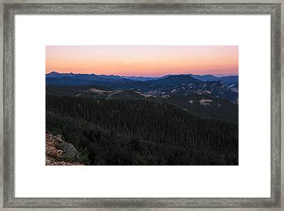 Sunrise Over Moonset Framed Print