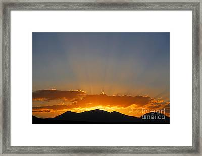 Sunrise Over Mountains Framed Print by Robert Preston