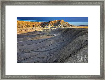 Sunrise Over North Caineville Butte Framed Print by Gary Whitton