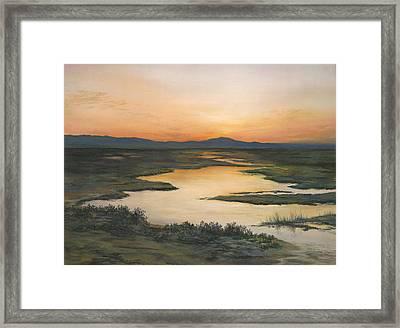 Sunrise Over Oakland Hills Framed Print by Martha J Davies