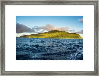 Sunrise Over Ofu Island, Manu'a Island Framed Print by Michael Runkel