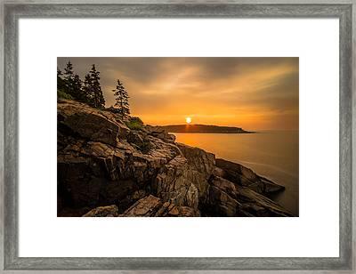 Sunrise Over Otter Cove Framed Print
