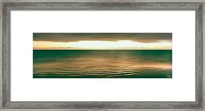 Sunrise Over Pacific Ocean, Cabo Pulmo Framed Print
