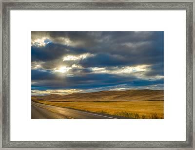 Sunrise Over Palouse Road Framed Print by Chris McKenna
