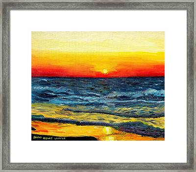 Framed Print featuring the painting Sunrise Over Paradise by Shana Rowe Jackson
