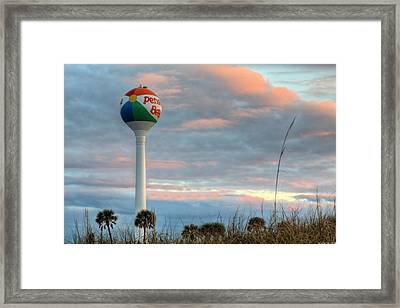 Sunrise Over Pensacola Beach Framed Print