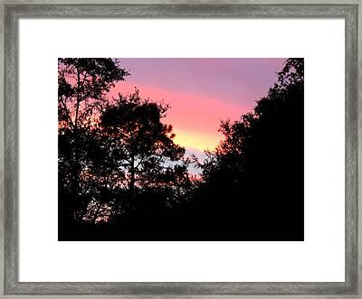 Sunrise Over Perry Framed Print