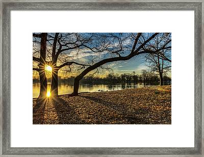 Sunrise Over Prospect Park Lake Framed Print