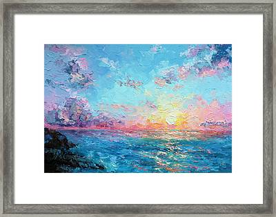 Sunrise Over Redlands Framed Print by Marie Green