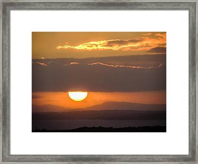 Sunrise Over River Shannon Framed Print