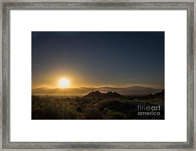 Sunrise Over Rock Knob Framed Print by Marianne Jensen