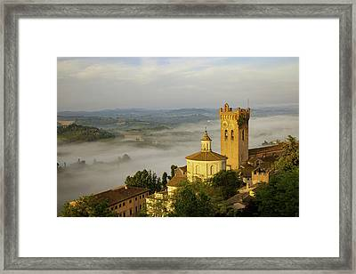 Sunrise Over San Miniato, Tuscany, Italy Framed Print