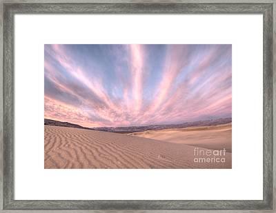 Sunrise Over Sand Dunes Framed Print