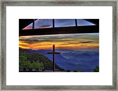 Sunrise Over Sc From Nc Framed Print by Reid Callaway