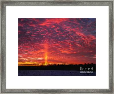 Framed Print featuring the photograph Sunrise Over Scandinavia by Trey Foerster